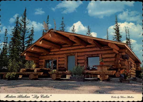 Modern Alaskan Log Cabin Other Alaska Cities