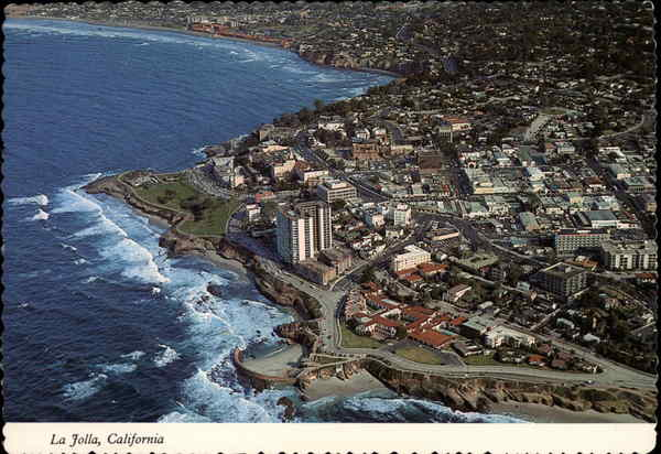 Aerial view of La Jolla California