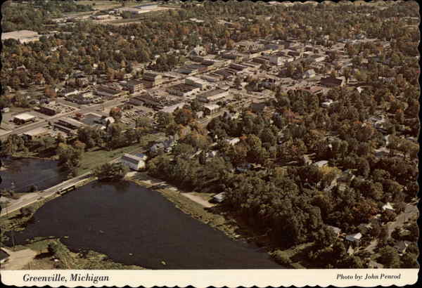 Aerial View of Greenville Michigan