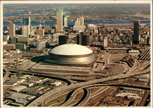 Aerial View of City New Orleans Louisiana