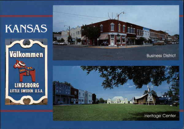 Business District and Heritage Center Lindsborg Kansas
