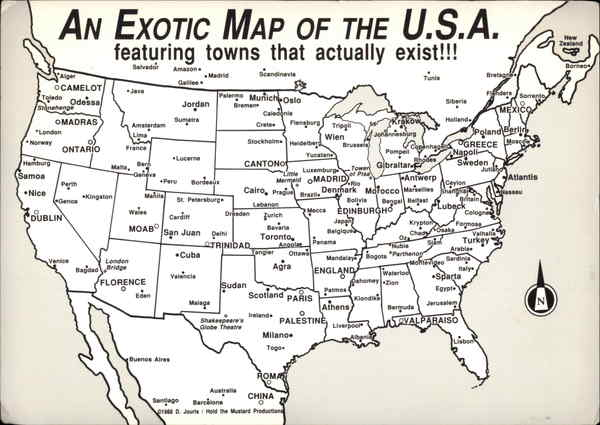 An Exotic Map of the U.S.A Maps