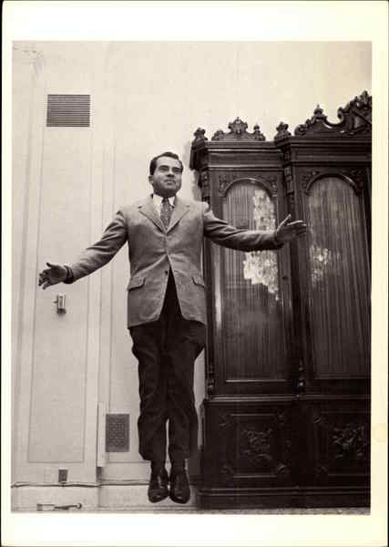 Richard Nixon Jumping 1956 Presidents