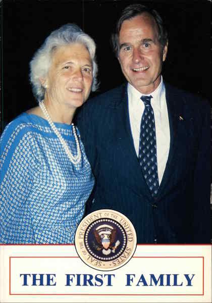 The First Family Barbara Pierce Bush And George W Bush
