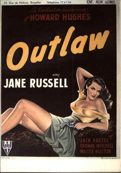 Jane Russell - Outlaw Movie and Television Advertising