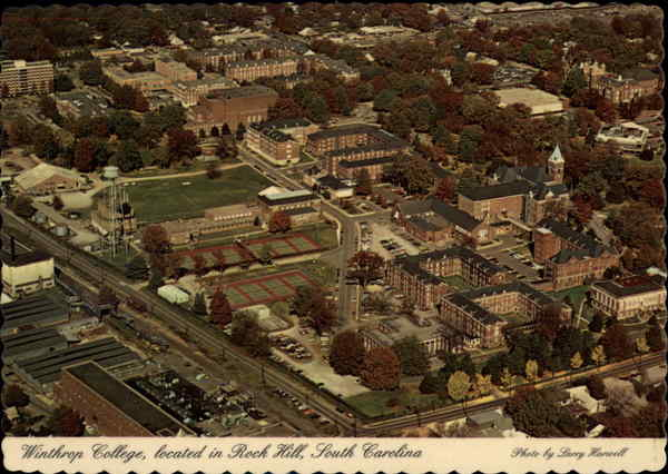 Aerial View of Campus, Winthrop College Rock Hill South Carolina