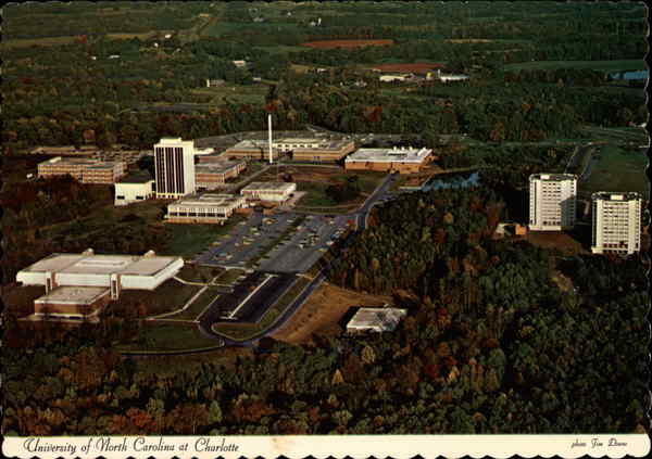 Aerial View of the University of North Carolina Campus Charlotte