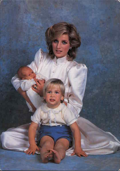 Princess Diana With Prince William and Prince Henry