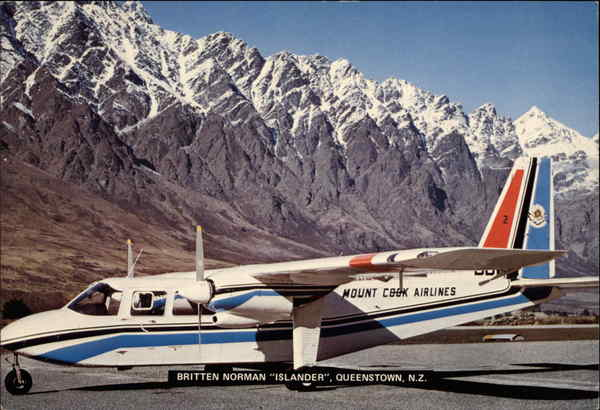 Britten Norman Islander Queenstown New Zealand