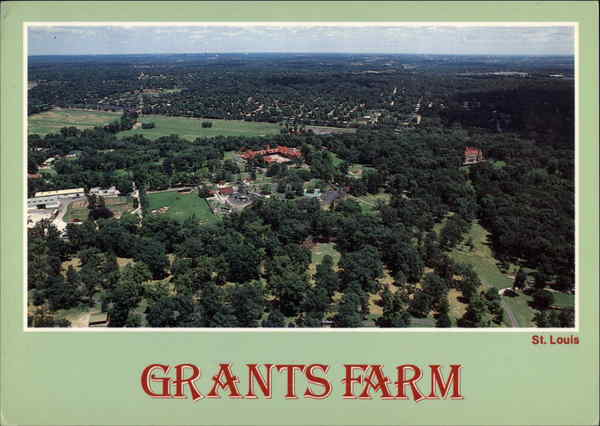 Aerial View of Grant's Farm St. Louis Missouri