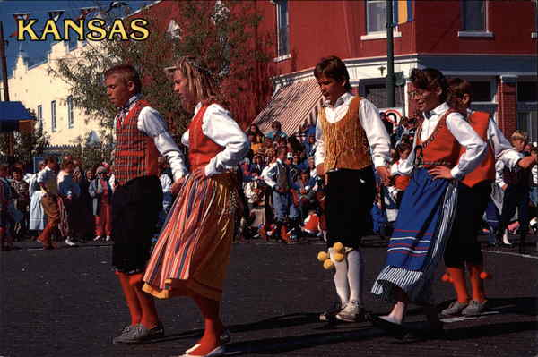 Swedish Dancers during the Svensk Hyllingsfest Lindsborg Kansas