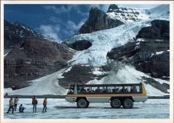 Delta Snowmobile on Athabasca Glacier, The Columbia Icefield Jasper National Park Canada