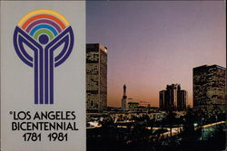 Los Angeles Bicentennial 1781 1981 Postcard