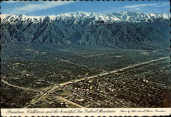 Spectacular Aerial View of City and the Beautiful San Gabriel Mountains