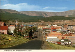 View of Town and the Mosquito Range Postcard