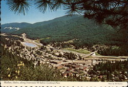 Interstate 90 below Lookout Pass Postcard