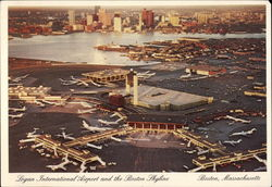 Logan International Airport and the Boston Skyline