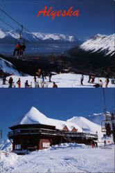 Skiing at Alyeska Resort Postcard
