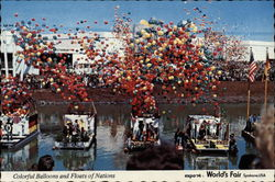 Colorful Balloons and Floats of Nations