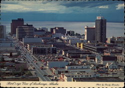 Bird's Eye View of City Postcard