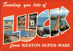Sending You Lots of Luck from Weston-Super-Mare Postcard