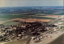 Aerial view of Duxford Airfield