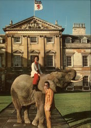 The Marquess and Marchioness of Tavistock, Woburn Abbey Postcard