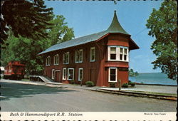 Bath & Hammondsport RR Station Postcard