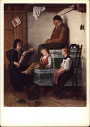 Grandfather and Children by Albert Anker