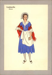 Ethinic Dressed Woman Postcard