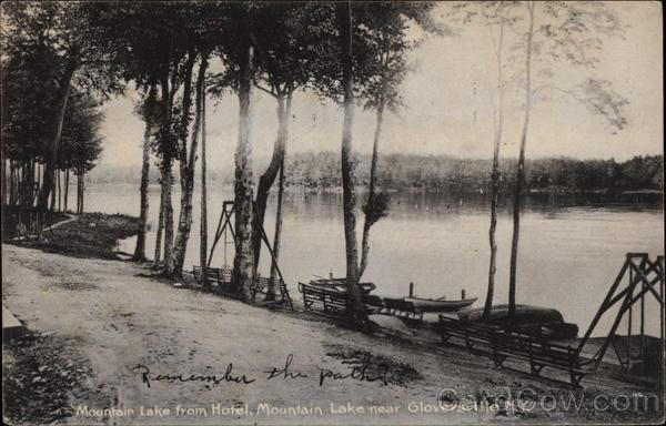 Mountain Lake from Hotel, Mountain Lake Gloversville New York