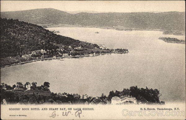Rogers' Rock Hotel and Heart Bay Lake George New York
