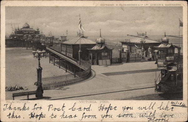View of Victoria Pier Blackpool England Lancashire