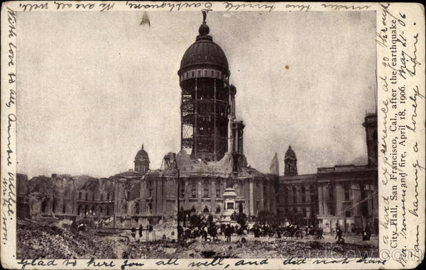City Hall After the Earthquake and Fire, April 18, 1906 San Francisco California