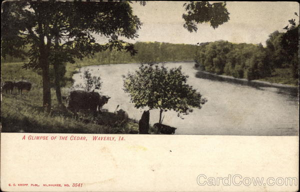 A Glimpse of the Cedar Waverly Iowa