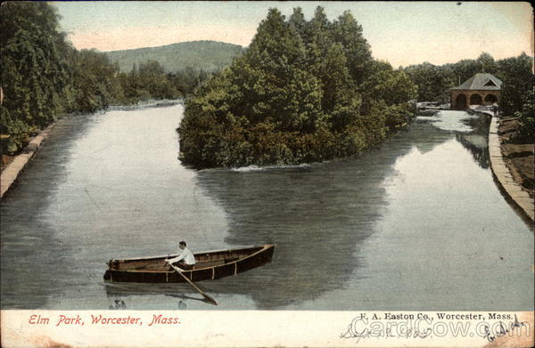 Boat on River, Elm Park Worcester Massachusetts
