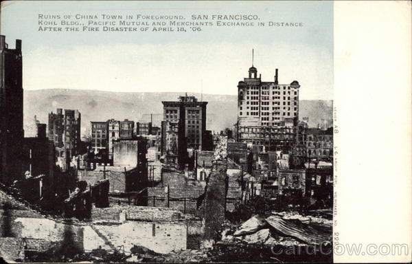 Aerial View of City After the Fire Disaster of April 18, '06 San Francisco California