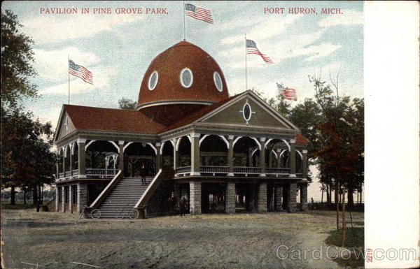 Pavilion in Pine Grove Park Port Huron Michigan