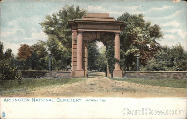 Arlington National Cemetery, McClellan Gate Virginia