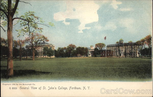 General View of St. John's College Fordham New York