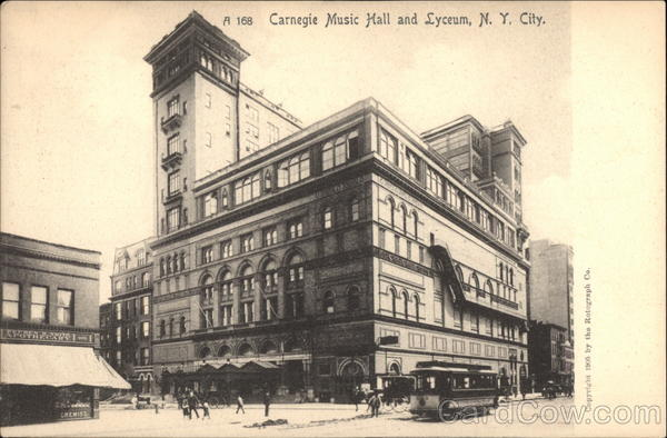 Carnegie Music Hall and Lyceum New York City