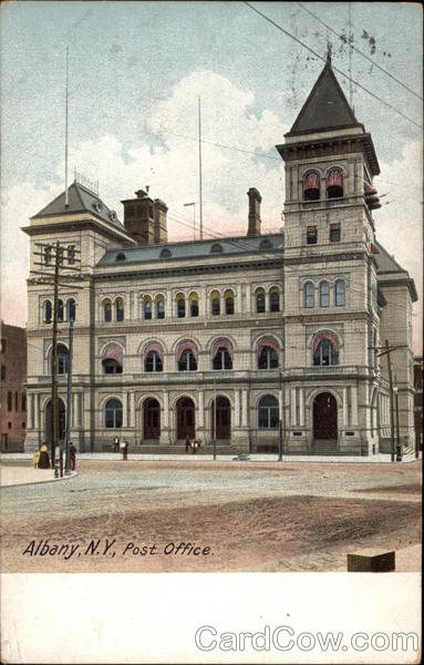 View of Post Office Albany New York