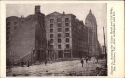Market St., Showing the Palace Hotel and Call Bldh After Earthquake and Fire