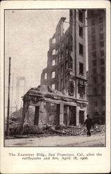 San Francisco Examiner Building After the 1906 Earthquake