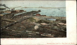 View from Masonic Temple Postcard