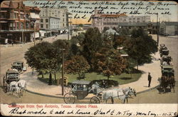 View of Alamo Plaza Postcard