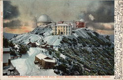 Lick Observatory, Scene in Winter