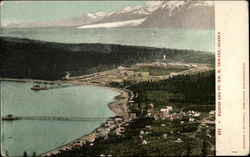 View of Town and Fort William H. Seward Postcard