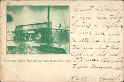 View from Parks' Hill During High Water, Feb. 1907