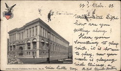 View of Public Library Postcard